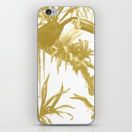 Toucans and Bromeliads - Spicy Mustard iPhone Skin