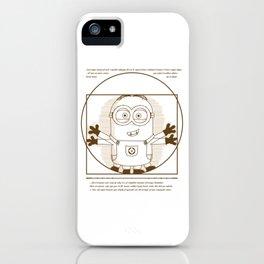 Vitruvian minion iPhone Case