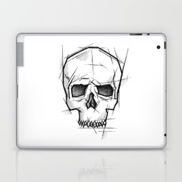 Skull Handmade Drawing, Made in pencil, charcoal and ink, Tattoo Sketch, Tattoo Flash, Sketch Laptop & iPad Skin