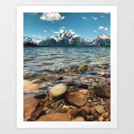 Crystal Clear Jackson Lake in Grand Teton Art Print