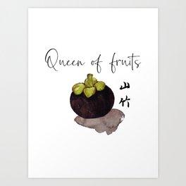 Queen of Fruits | Mangosteen Art Print