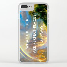 Rainy Season in Perfect Places Clear iPhone Case