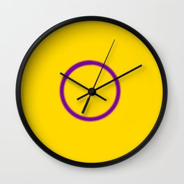 Intersex Pride Wall Clock