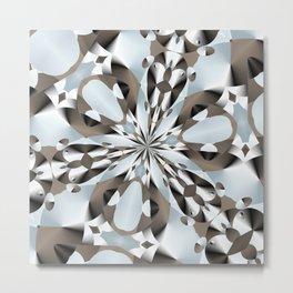 Silver Liking Metal Print