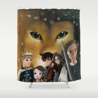 narnia Shower Curtains featuring Narnia by BellaG studio