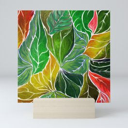 Dancing leaves Mini Art Print