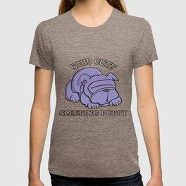 SCHO CUTE SLEEPING PUPPY T-shirt