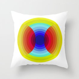 crossing colors Throw Pillow
