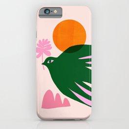 Abstraction_BIRD_SUN_Beautiful_Day_Minimalism_001 iPhone Case