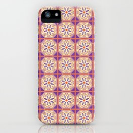 Mediterranean Floral Tiles iPhone Case