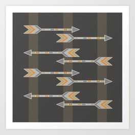 Arrow Gray Art Print