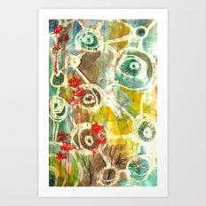 Peeking Trees Art Print