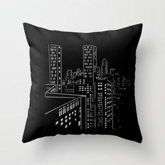 City nights, city lights Throw Pillow