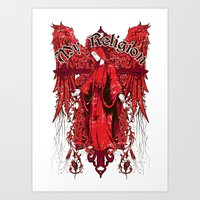 religion Art Prints featuring My religion by Tshirt-Factory