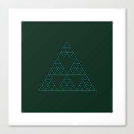 #133 Trigon mega-trifecta for sworcery.tumblr.com – Geometry Daily Canvas Print
