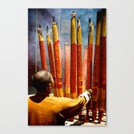 Shaolin Monk Closeup Canvas Print