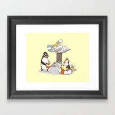 Birds of Literacy Framed Art Print