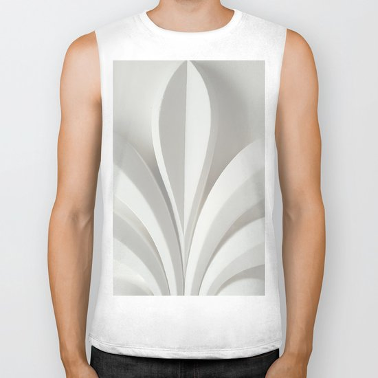 White sculpture Biker Tank