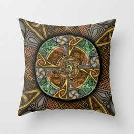 Celic Apeatue Mandala Throw Pillow