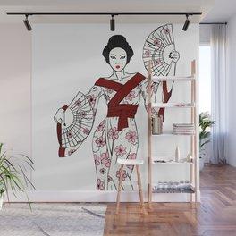 Sakura Geisha Wall Mural