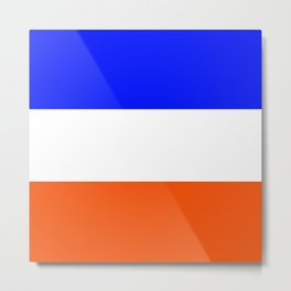 TEAM COLORS 8.....Orange, blue white Metal Print