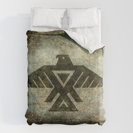Thunderbird, Emblem of the Anishinaabe people - Vintage version Comforters