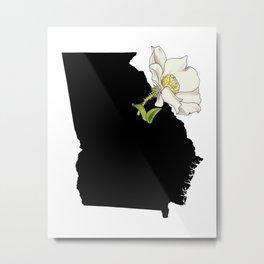 Georgia Silhouette Metal Print