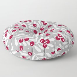 Snow Berries Floor Pillow