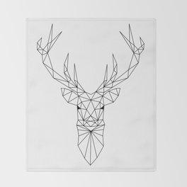 Geometric Deer Head Throw Blanket