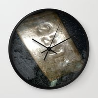 221b Wall Clocks featuring 221B  by Foundtique
