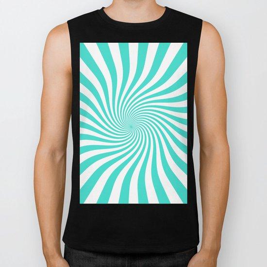 Swirl (Turquoise/White) Biker Tank
