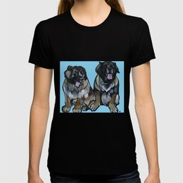 Simba and Snuffaluffagus the Leonbergers T-shirt