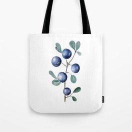 Blackthorn Blue Berries Tote Bag