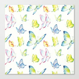 colorful watercolor butterflies Canvas Print