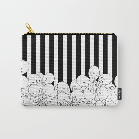 Cherry Blossom Stripes - In Memory of Mackenzie Carry-All Pouch