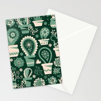 Paisley succulents Stationery Cards