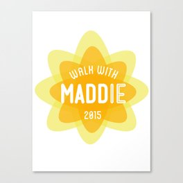 WALK WITH MADDIE Canvas Print