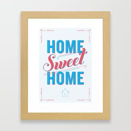 Home Sweet Home Print Framed Art Print