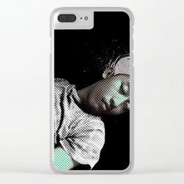 I SLEEP OVER Clear iPhone Case