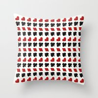 suits Throw Pillows featuring Card Suits by •ntpl•