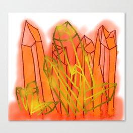 Crystals - Orange Canvas Print