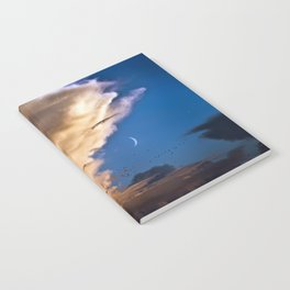 Clouds, Birds, Moon, Venus Notebook