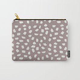 Simply Ink Splotch Lunar Gray on Red Earth Carry-All Pouch