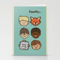 equality Stationery Cards featuring Equality by Dude Poncio