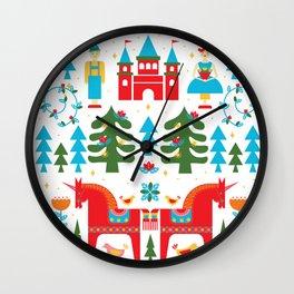 Scadinavian Fairytale Bright Wall Clock