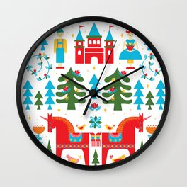 Scadinavian Fairytale Bright Wall Clock
