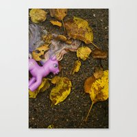 my little pony Canvas Prints featuring My Little Pony by Neil John Smith