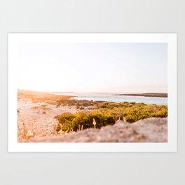 Sunset  | Calm natural travel fine art print | Fuerteventura, Canary Islands, Spain Art Print