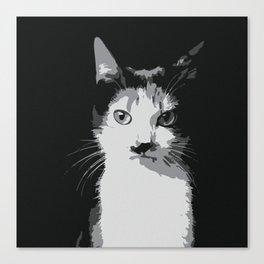 A Feline Mastermind Canvas Print