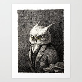 A Serious Hoot Art Print
